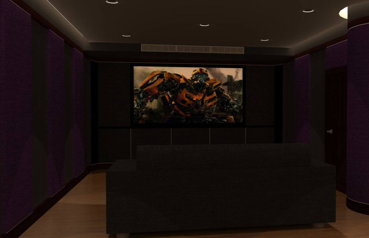 Home Theater 3D Render Design Services