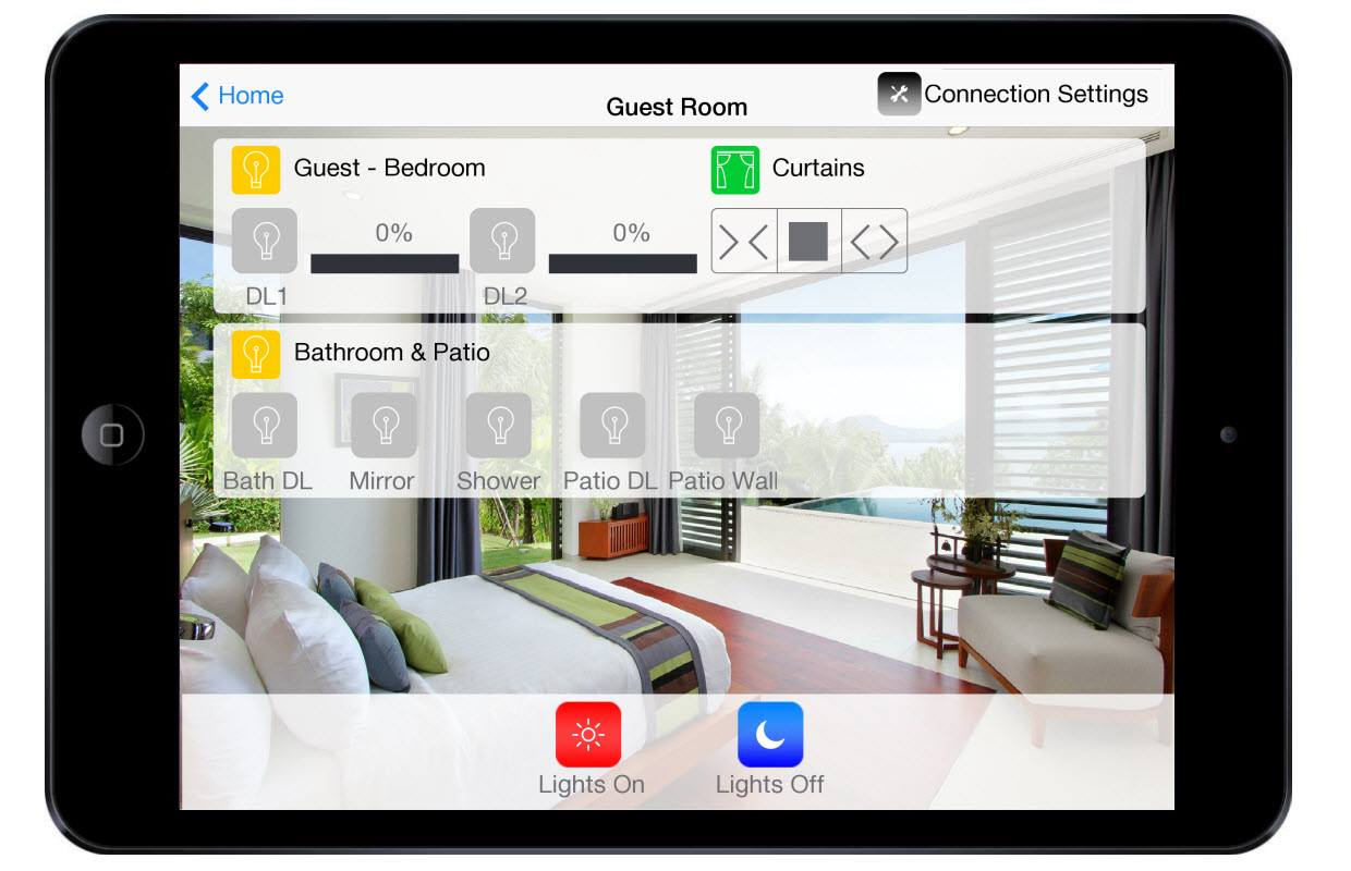 Hotel Guest Room Control Touch Screen