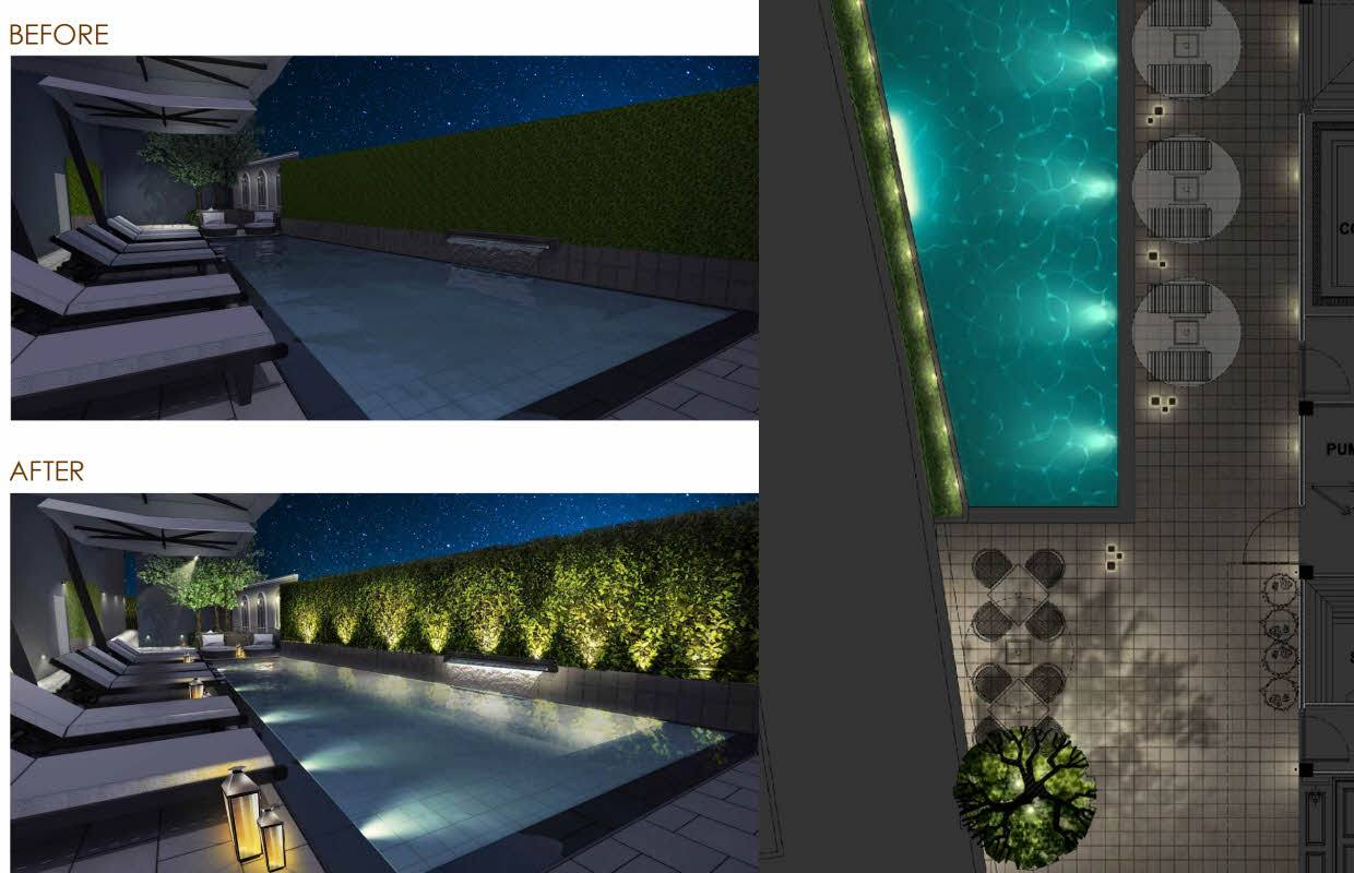 Hotel Pool & FACADE Lights