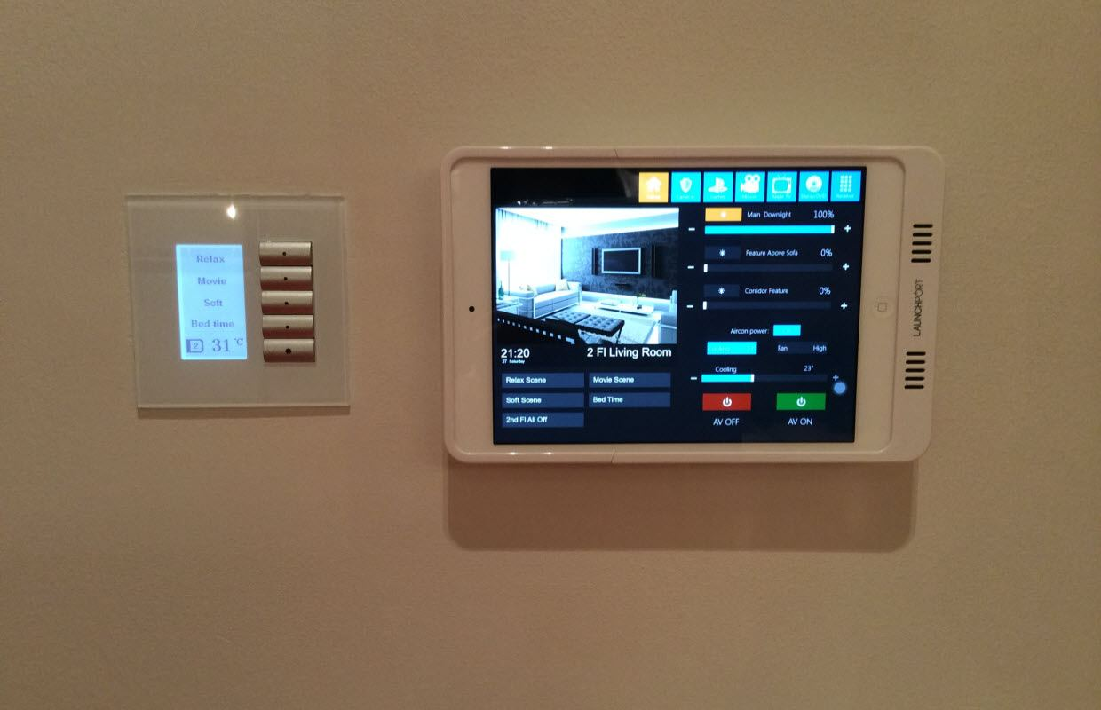Lighting Control Interface Touch Screen
